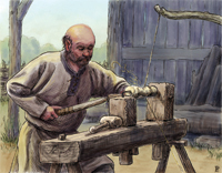"Balding woodcrafter in Clord. This article is a location expansion intended for use with ""Clord Manor"" article in the HârnManor module (COL #4751)"